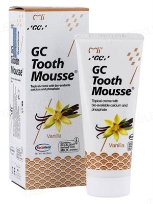 Крем стоматологический GC Tooth Mousse для восстановления эмали зубов, Ваниль, 35 мл