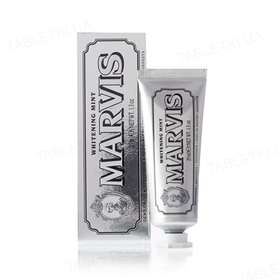 Зубная паста Marvis Отбеливающая со вкусом мяты, 25 мл