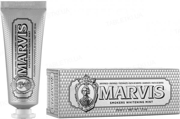 Зубная паста Marvis Отбеливающая мята для курящих, 25 мл