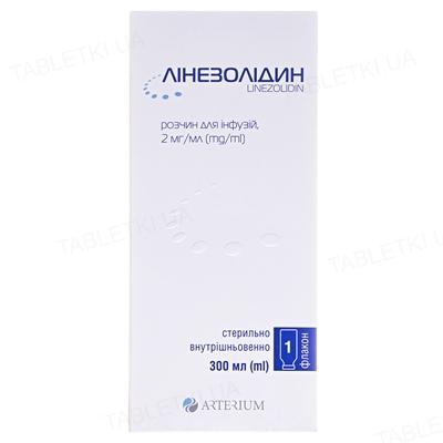 Линезолидин раствор д/инф. 2 мг/мл по 300 мл в бутыл.