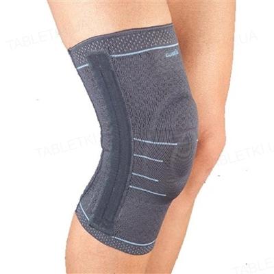 Бандаж на коленный сустав Aurafix 114 с силиконовым кольцом и 4 ребрами жесткости, размер L