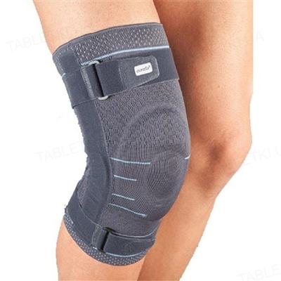 Бандаж на коленный сустав Aurafix 116 эластичный c шарнирами и фиксирующими ремнями, размер XL