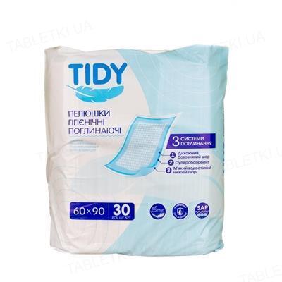 Пеленки впитывающие TIDY 60 x 90 см, 30 штук (СТМ)