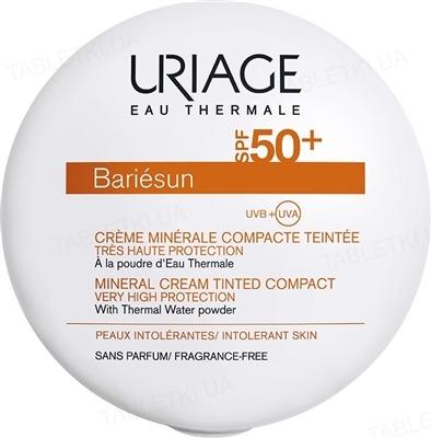 Крем-пудра солнцезащитная Uriage Bariesun минеральная, тон золотистый, SPF 50+, 10 г