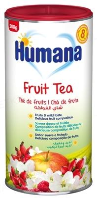 Чай Humana Фруктовый растворимый для детей с 8 месяцев, 200 г