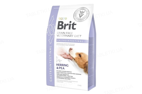 Корм сухой Brit VetDiets Gastrointestinal для взрослых собак с селедкой и лососем, 2 кг