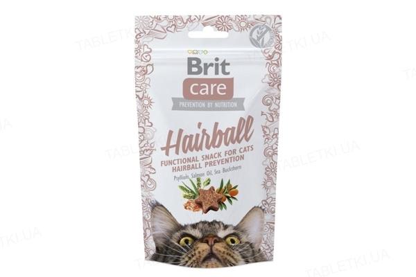 Лакомство для котов Brit Care Hairball с уткой, 50 г