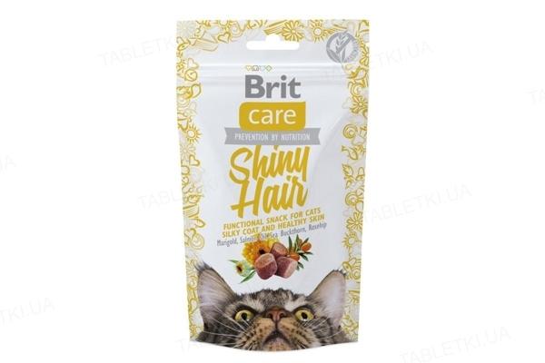 Лакомство для котов Brit Shiny Hair с лососем, 50 г