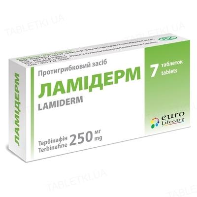 Ламідерм таблетки по 250 мг №7