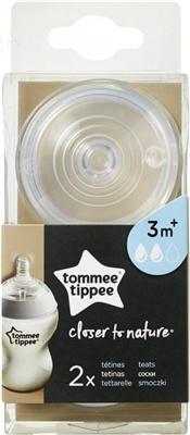 Соска силиконовая Tommee Tippee средний поток,  2 штуки