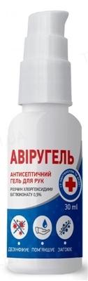Авиругель гель антисептический для рук по 30 мл во флак.