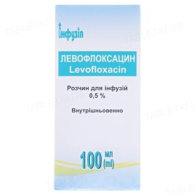 Левофлоксацин раствор д/инф. 0.5 % по 100 мл в бутыл.