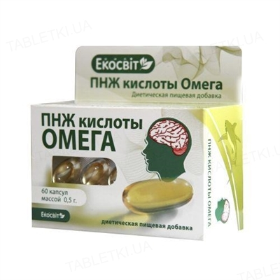 ПНЖ кислоты Омега капсулы №60