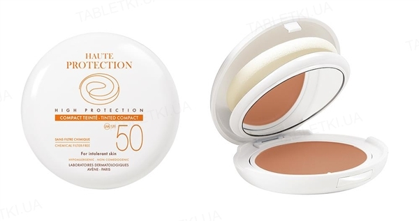 Пудра для лица Avene SPF 50+ с минеральными фильтрами, бежевый, 10 г