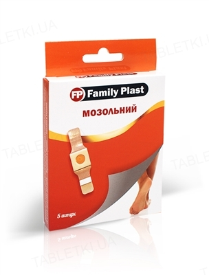 Пластырь медицинский «FP Family Plast» мозольный 2 см х 6 см, 5 штук
