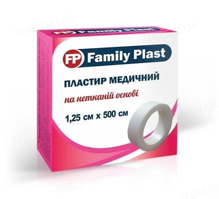 Пластырь медицинский «FP Family Plast» на нетканой основе 1,25 см х 500 см, 1 штука