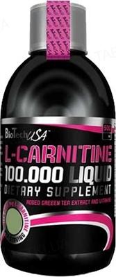 Жироспалювач Biotech L-Carnitine 100 000 Liquid Яблуко, 500 мл