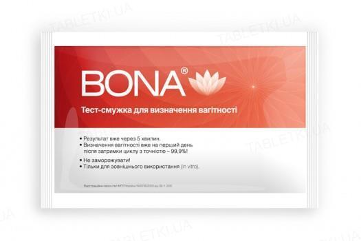 Тест-полоска Bona для определения беременности, 1 штука