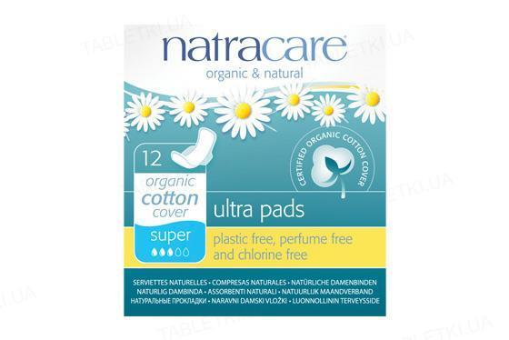 Прокладки гигиенические Natracare 3008 Super ультратонкие органические, 12 штук