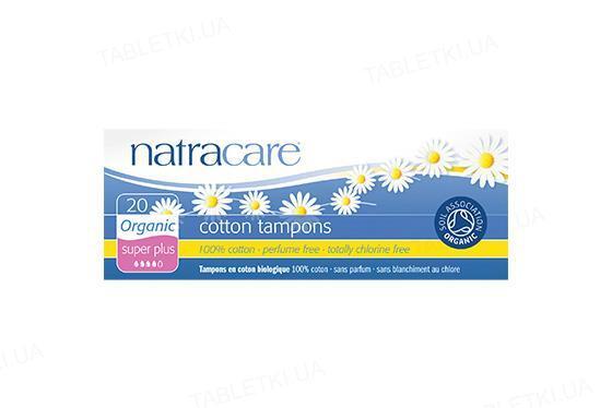 Тампоны Natracare 2002 Super Plus органические, 20 штук
