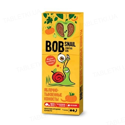 Цукерки Bob Snail натуральні яблучно-гарбузові, 30 г
