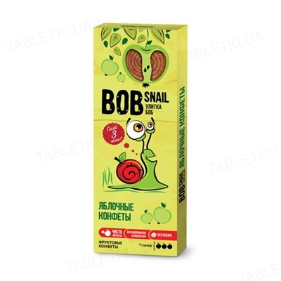 Цукерки Bob Snail натуральні яблучні, 30 г