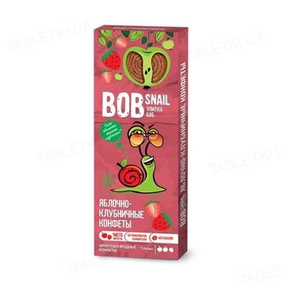 Цукерки Bob Snail натуральні яблучно-полуничні, 30 г