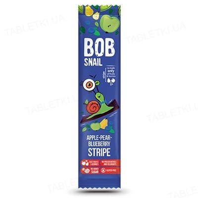 Цукерки Bob Snail натуральні яблучно-грушово-чорничні, 14 г