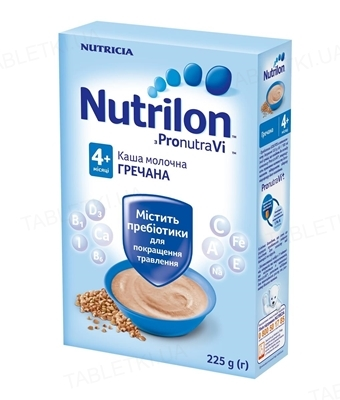 Молочная каша Nutrilon гречневая для детей с 4 месяцев, 225 г