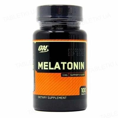 Витамины Optimum Nutrition Melatonin (Мелатонин), 100 таблеток