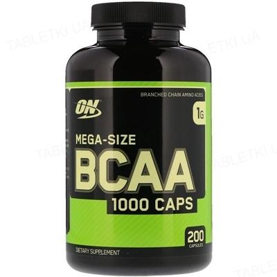 Аминокислота Optimum Nutrition BCAA 1000, 200 капсул