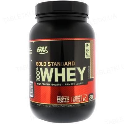 Протеин Optimum Nutrition 100% Whey Gold Standard, шоколадный солод, 909 г