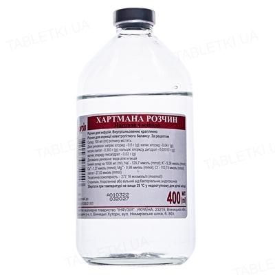 Хартмана раствор д/инф. по 400 мл в бутыл.