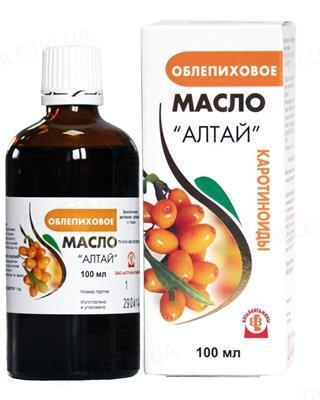 Облепиховое масло Алтай по 100 мл во флак.