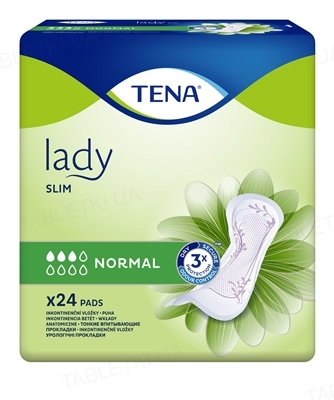Прокладки урологические Tena Lady Slim Normal, 24 штуки
