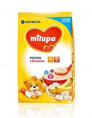 Молочна каша Milupa рисова з бананом для дітей з 5 місяців, 210 г