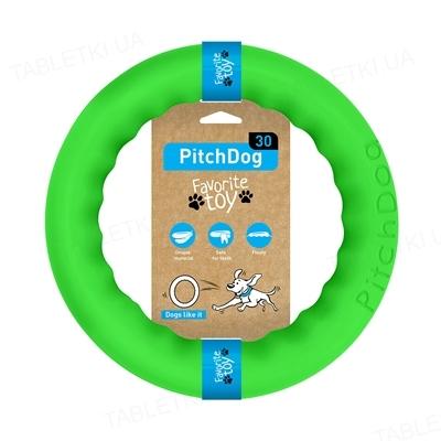 Игрушка-кольцо Collar PitchDog для апортировки для собак, 28 см, салатовая