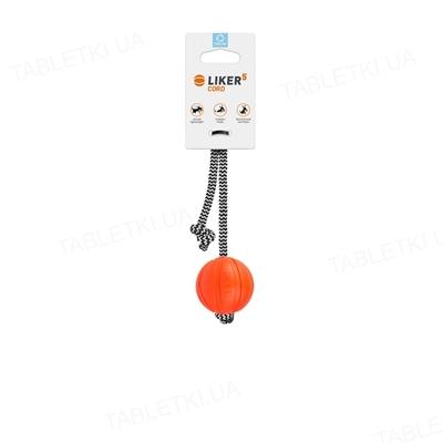Мячик для собак Collar Liker Cord на шнурке, диаметр 7 см