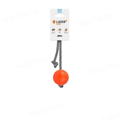 Мячик для собак Collar Liker Cord на шнурке, диаметр 9см