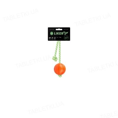 Мячик для собак Collar Liker Lumi на шнуре, 7 см