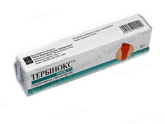 Тербинокс крем 1 % по 10 г в тубах