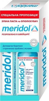 Набор Meridol Зубная паста 75 мл + ополаскиватель 100 мл