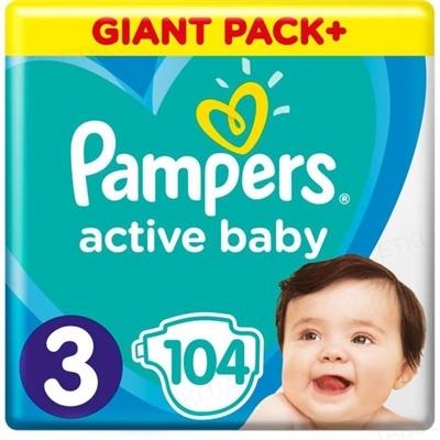 Підгузки дитячі Pampers Active Baby розмір 3, 6-10 кг, 104 штуки