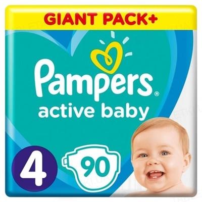 Підгузки дитячі Pampers Active Baby розмір 4, 9-14 кг, 90 штук