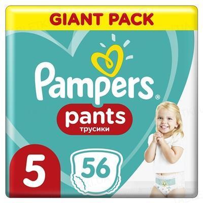 Подгузники-трусики детские Pampers Pants размер 5, 12-17 кг, 56 штук