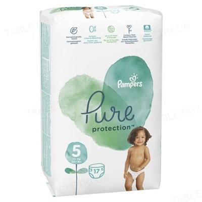 Подгузники детские Pampers Pure Protection размер 5 Junior, 11-16 кг, 17 штук