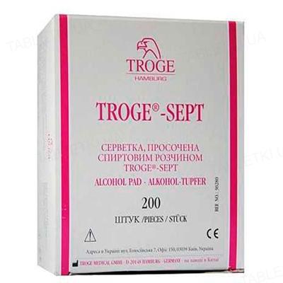 Салфетки спиртовые Troge медицинские 30 мм х 65 мм, 200 штук