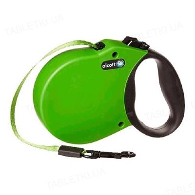 Поводок-рулетка Alcott adventure для собак до 11 кг, 3 м, зеленый