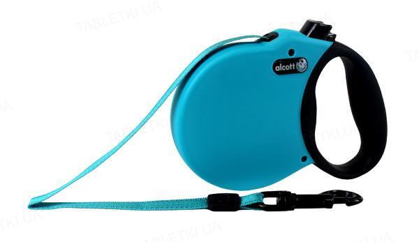 Поводок-рулетка Alcott adventure для собак до 11 кг, 3 м,синий