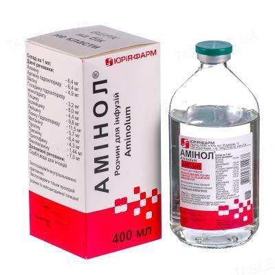 Аминол раствор д/инф. по 400 мл в бутыл.